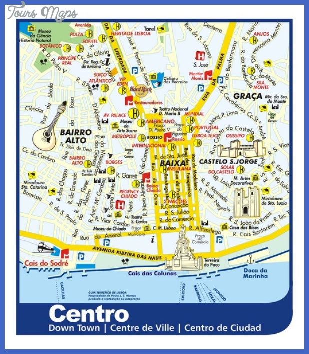 lisbon downtown tourist map mediumthumb Portugal Map Tourist Attractions