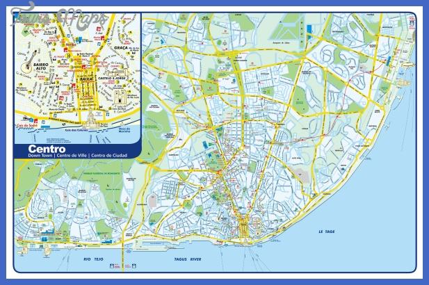 lisbon tourist map Portugal Map Tourist Attractions