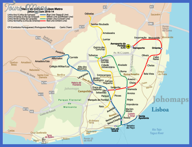 lisbonmetro Lisbon Map