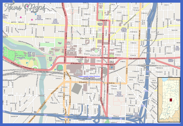 location map indianapolis central Indianapolis Map