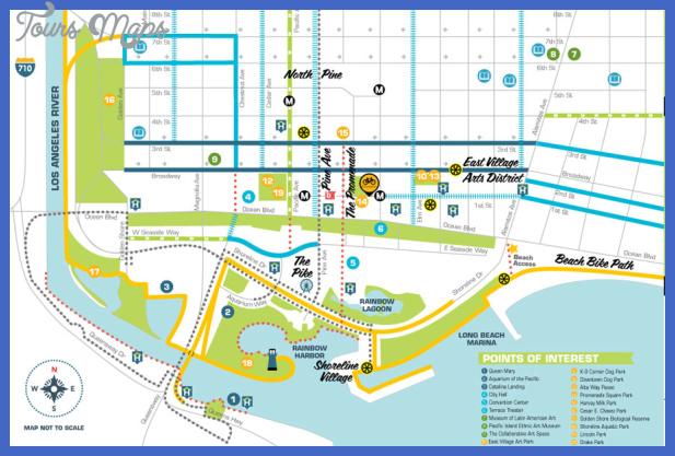 long beach map tourist attractions 1 Long Beach Map Tourist Attractions