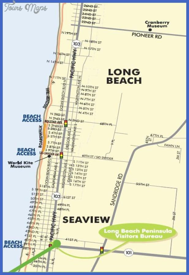 long beach washington map Long Beach Map Tourist Attractions