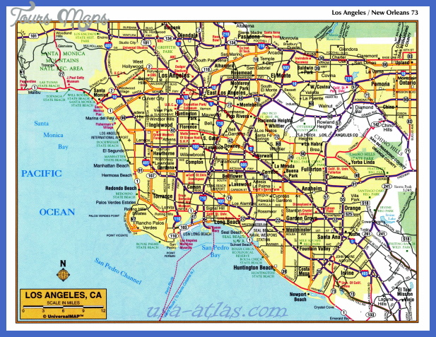 los angeles map 0 Los Angeles Map
