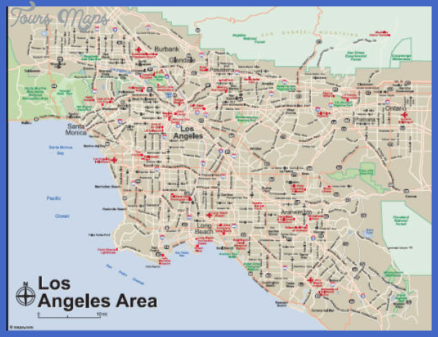 losang1 Los Angeles Map
