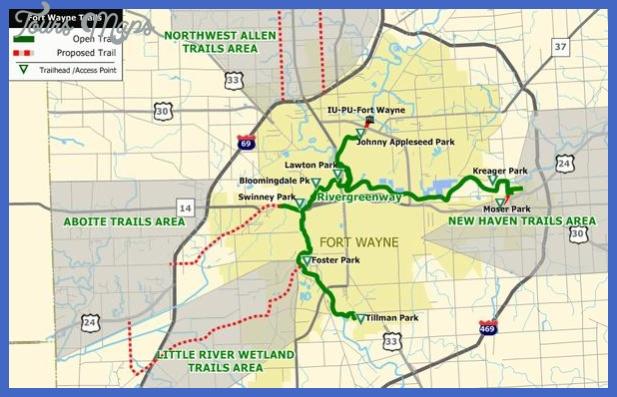 lrg 4796 ftwayne trails map Fort Wayne Map