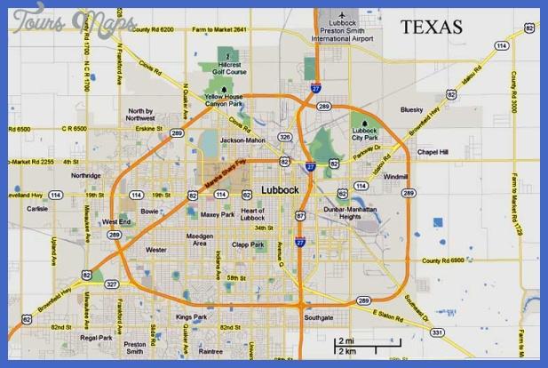 lubbock map Lubbock Map