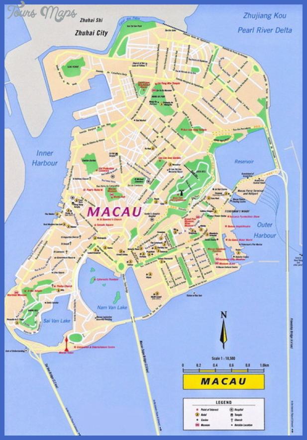 macau tourist map mediumthumb St. Paul Map Tourist Attractions