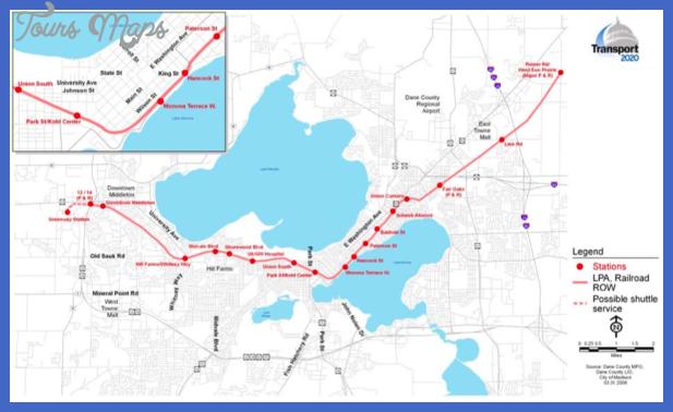 madison rail alternative Madison Subway Map