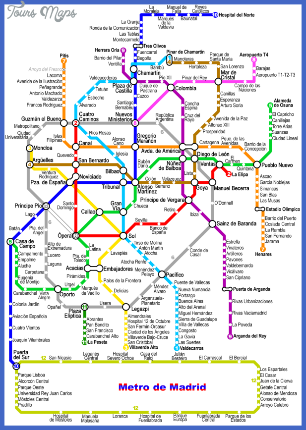 madrid metro map Madrid Subway Map