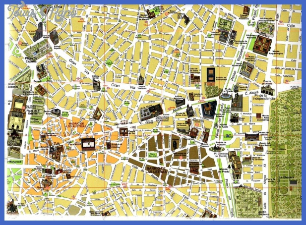 Romania Map Tourist Attractions ToursMapsCom – Madrid Tourist Attractions Map