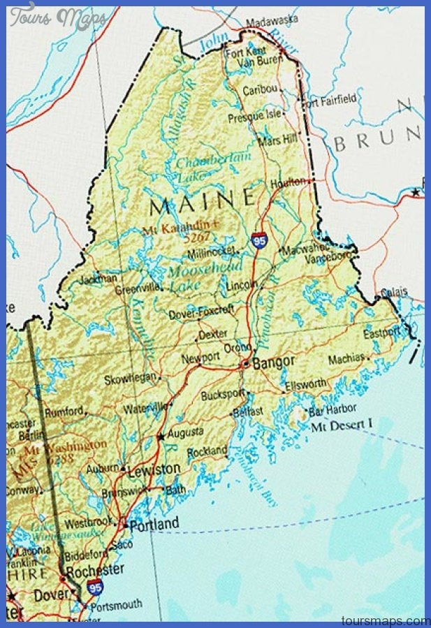 maine ref 2001 Portland Map Tourist Attractions