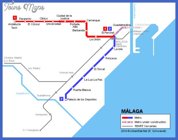 malaga map Kuwait Subway Map