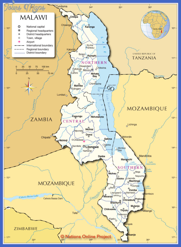 malawi administrative map Mali Subway Map