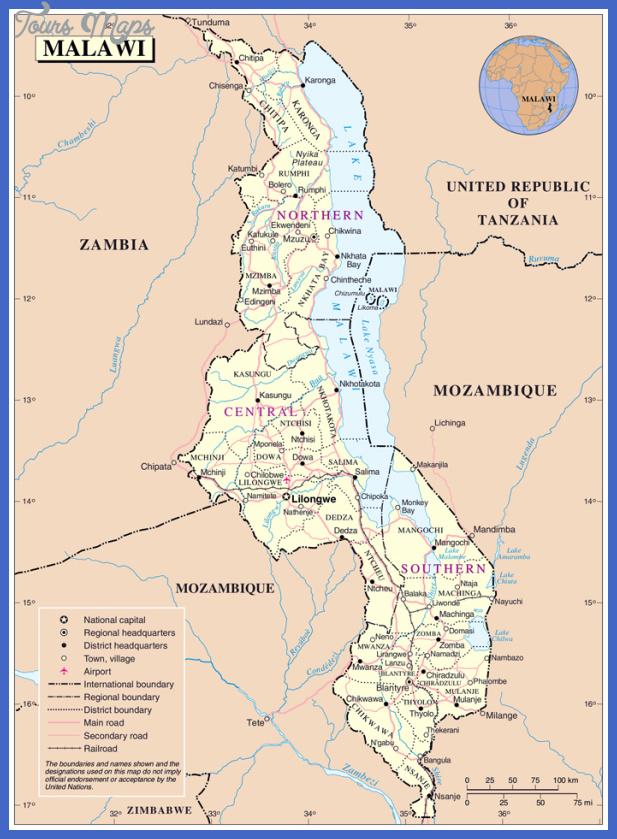 malawi map  15 Malawi Map