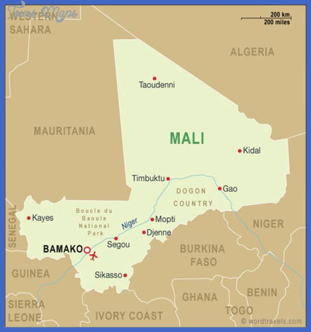 mali map Mali Map