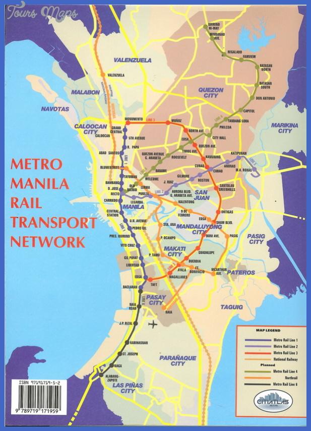 manila metro map Manila Metro Map