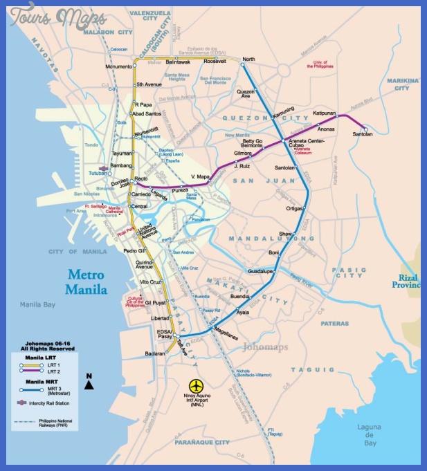 manila metro map 0 Manila Metro Map
