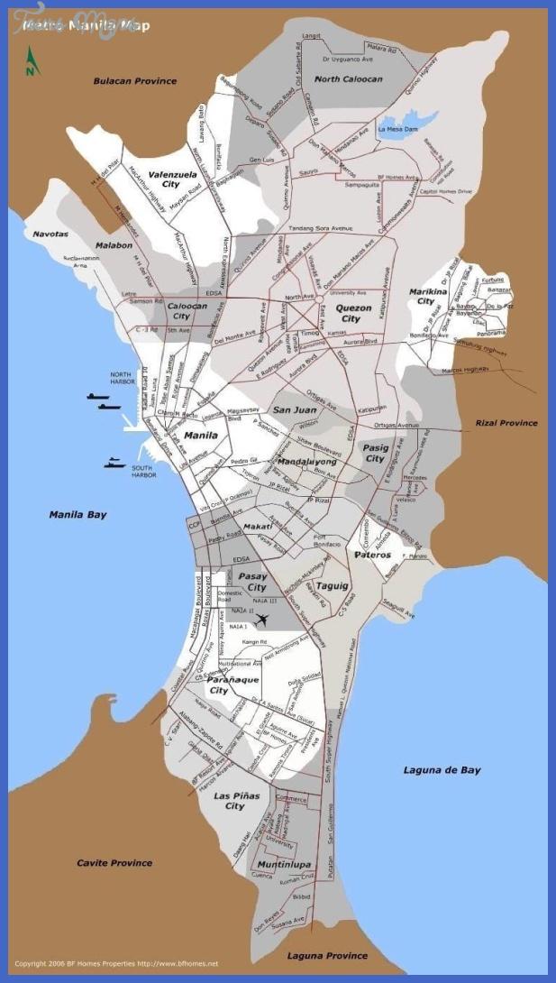 manila metro map 1 Manila Metro Map