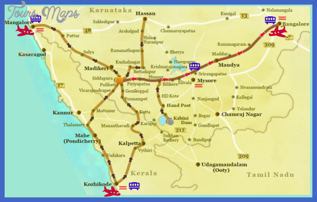 map 2 Bangalore Map Tourist Attractions