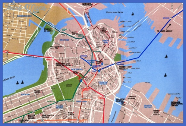 map boston Boston Map Tourist Attractions