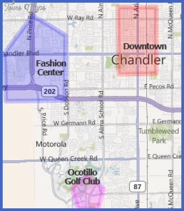 map chandler az hotels Chandler Map