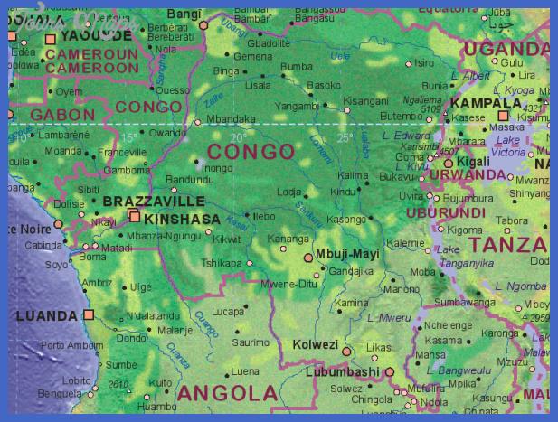 map congo kinshasa Kinshasa Map