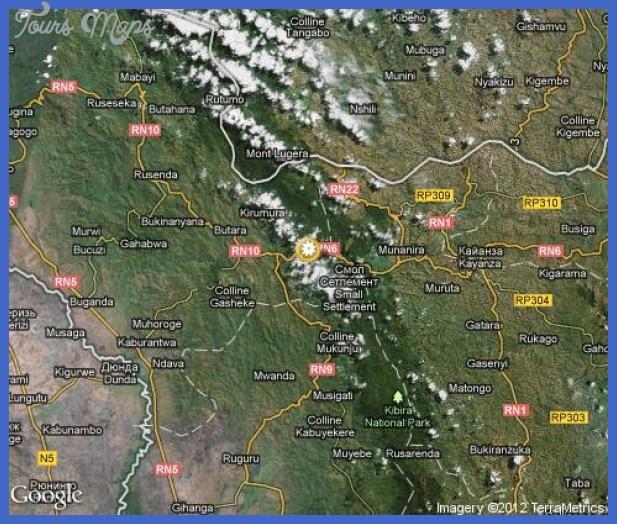 map kibira national park karta Burundi Map Tourist Attractions