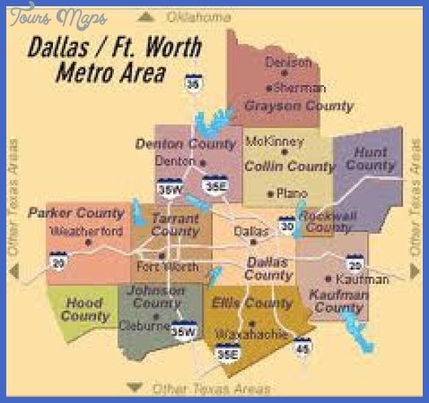 map of dallas ft worth metro Dallas Metro Map