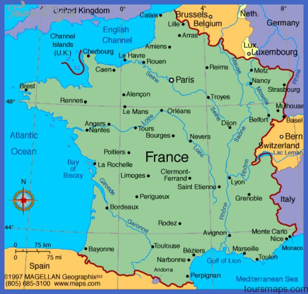 France Map ToursMapscom