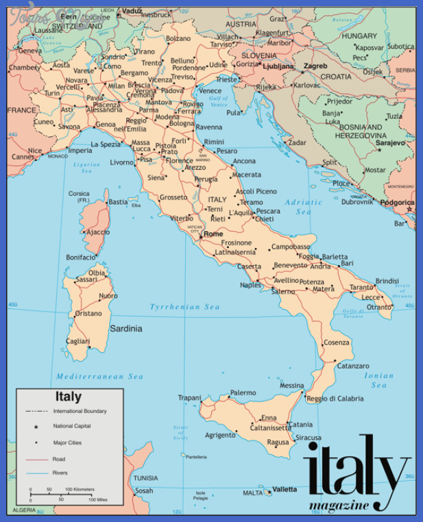 Italy Map ToursMapscom