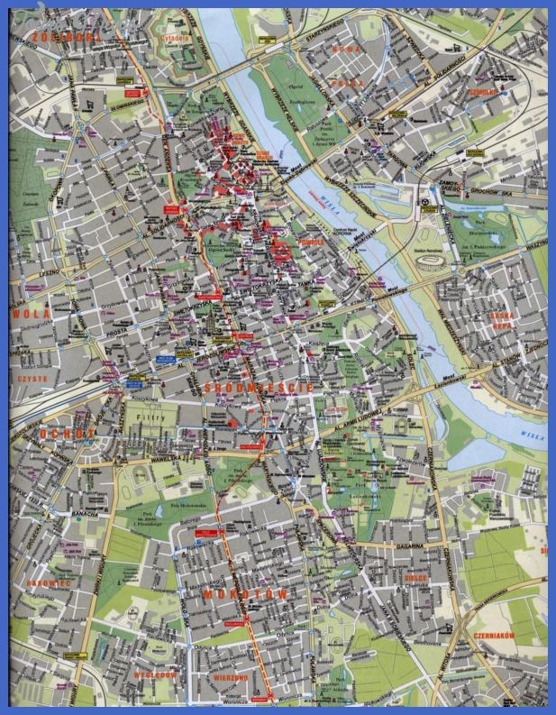 map of warsaw Warsaw Map