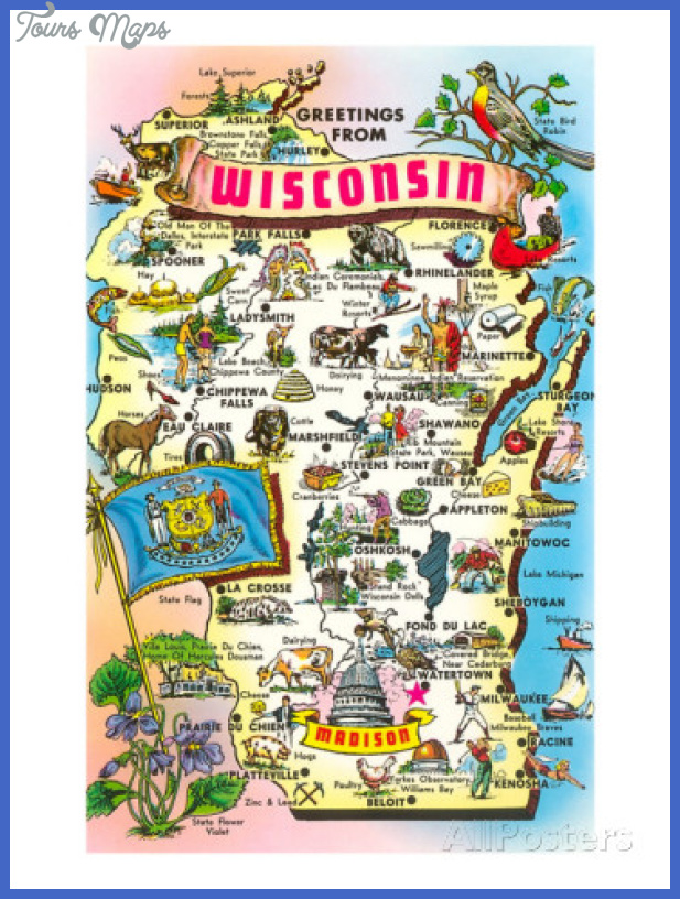 Madison Map Tourist Attractions ToursMapsCom – Wisconsin Tourist Attractions Map