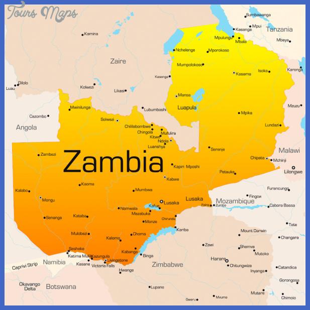 map of zambia1 Zambia Map