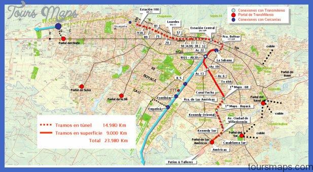 map primer linea mtro 8 12 20 Bogota Metro Map