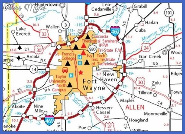 map 2 Fort Wayne Map