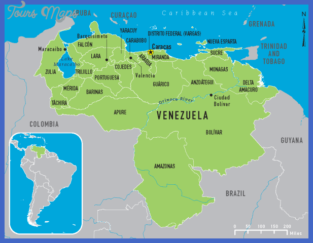 Venezuela Map ToursMapscom