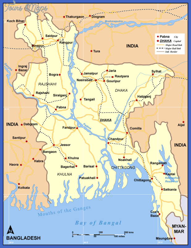 map bangladesh roadrail Bangladesh Map