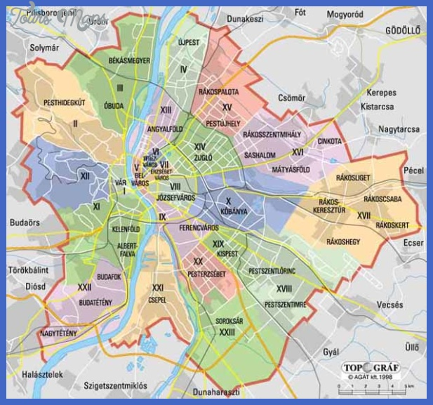 map budapest districts 1 Budapest Map