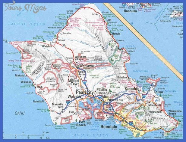 Urban Honolulu Map Tourist Attractions ToursMapsCom – Honolulu Tourist Attractions Map