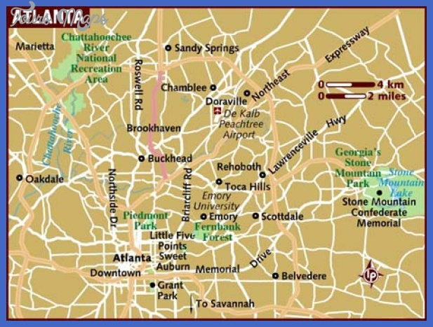 map of atlanta Atlanta Map