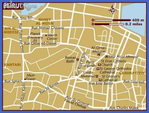 map of beirut Beirut Map