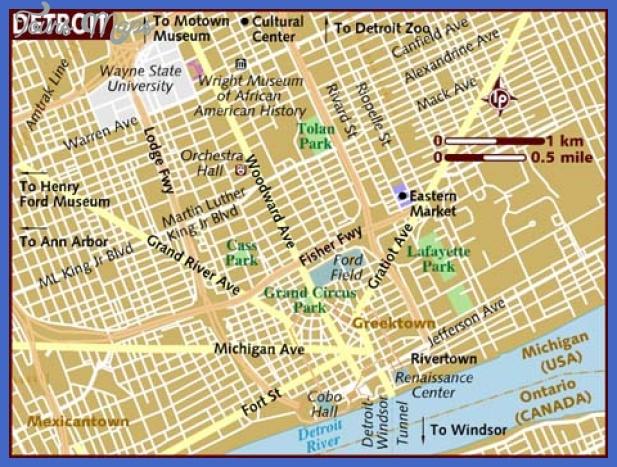 map of detroit Detroit Map