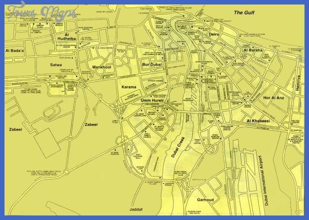 map of dubai Dubai Map Tourist Attractions