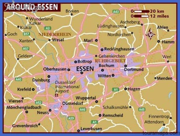 map of essen Essen Düsseldorf Map