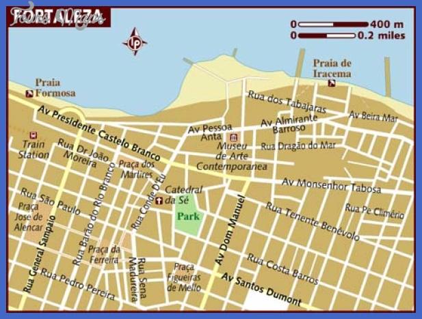 map of fortaleza Fortaleza Map Tourist Attractions