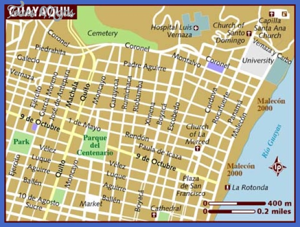 map of guayaquil Ecuador Map Tourist Attractions
