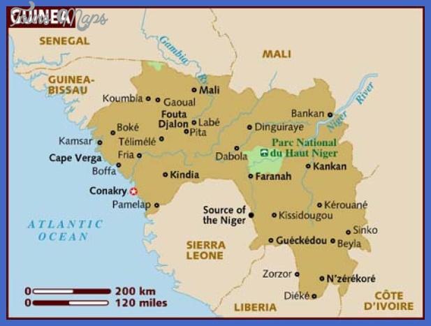 map of guinea Guinea Map