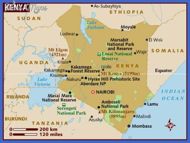 map of kenya 1 Kenya Map