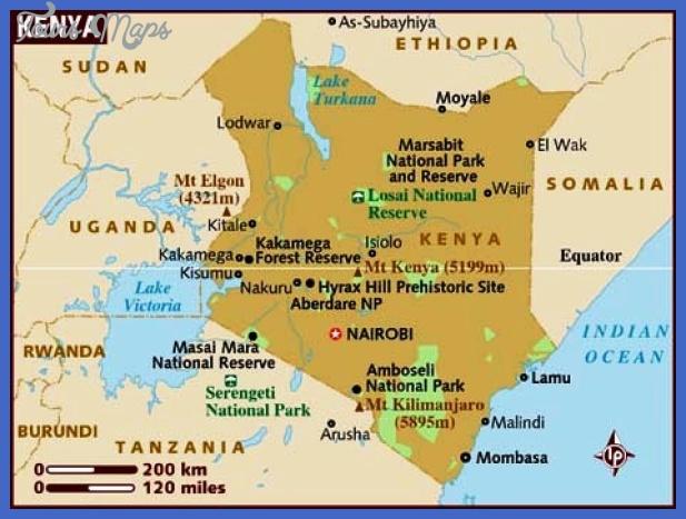 map of kenya Kenya Map Tourist Attractions