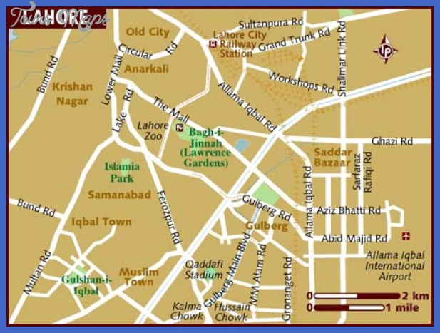 map of lahore Lahore Map Tourist Attractions